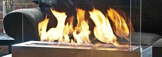 Flammenspiel als besonderes Wohnraumelement